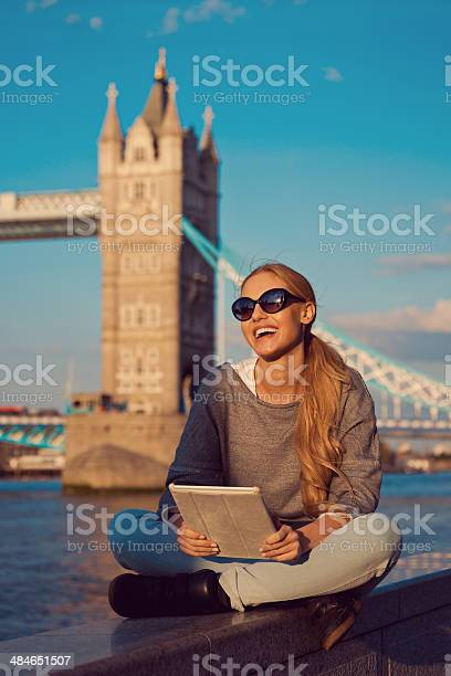 Young Woman In London Stock Photo - Download Image Now