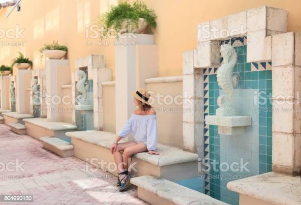 Young woman in mediterranean style downtown picture id804690130?b=1&k=6&m=804690130&s=612x612&h=u20pk5iogtnpuei6zudideq8wfftbdgbruasavzljbw=