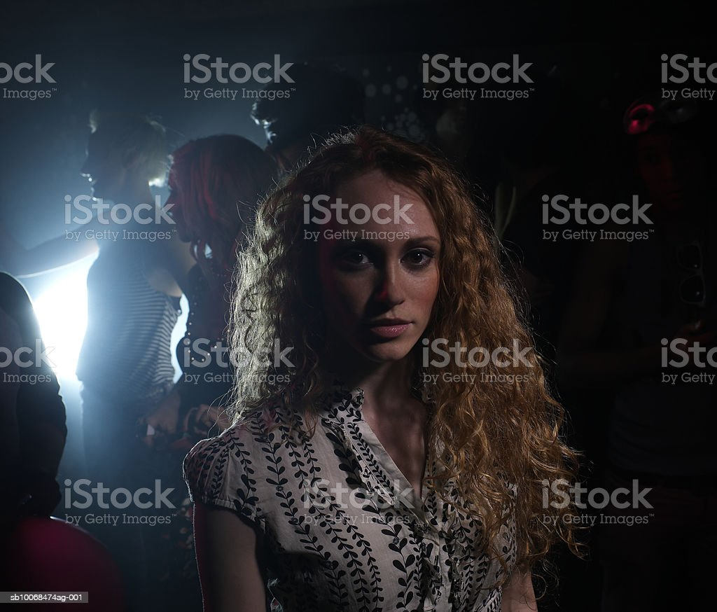 Young woman in night club, portrait royalty-free stock photo