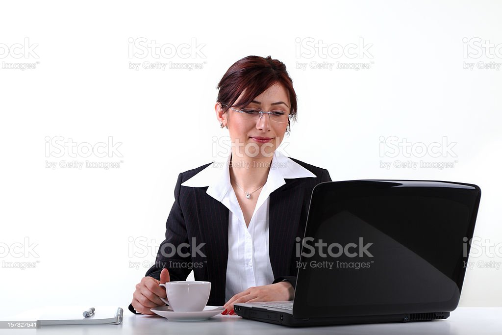Young woman in office royalty-free stock photo