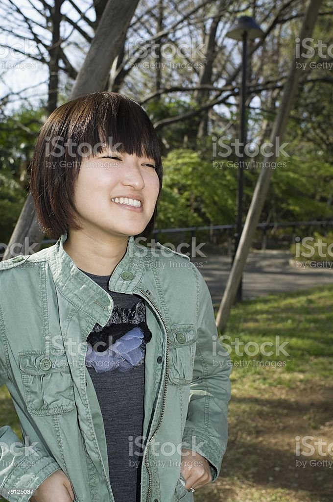Young woman in park 免版稅 stock photo