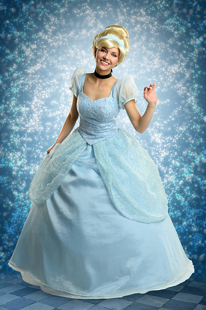 Young Woman in Princess Outfit stock photo