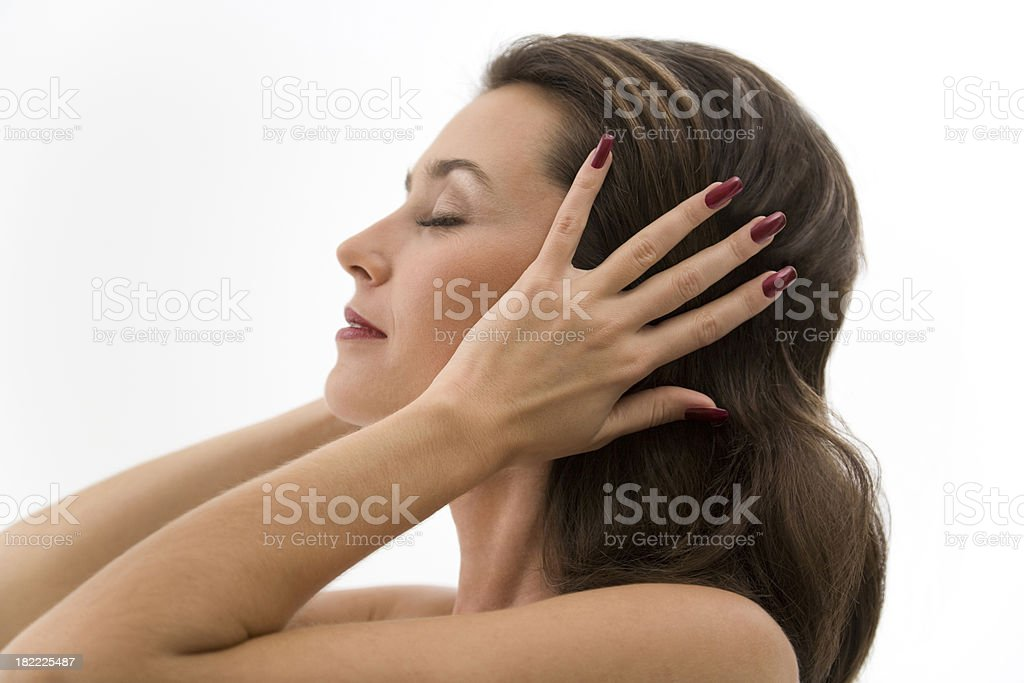 Young woman in profile royalty-free stock photo