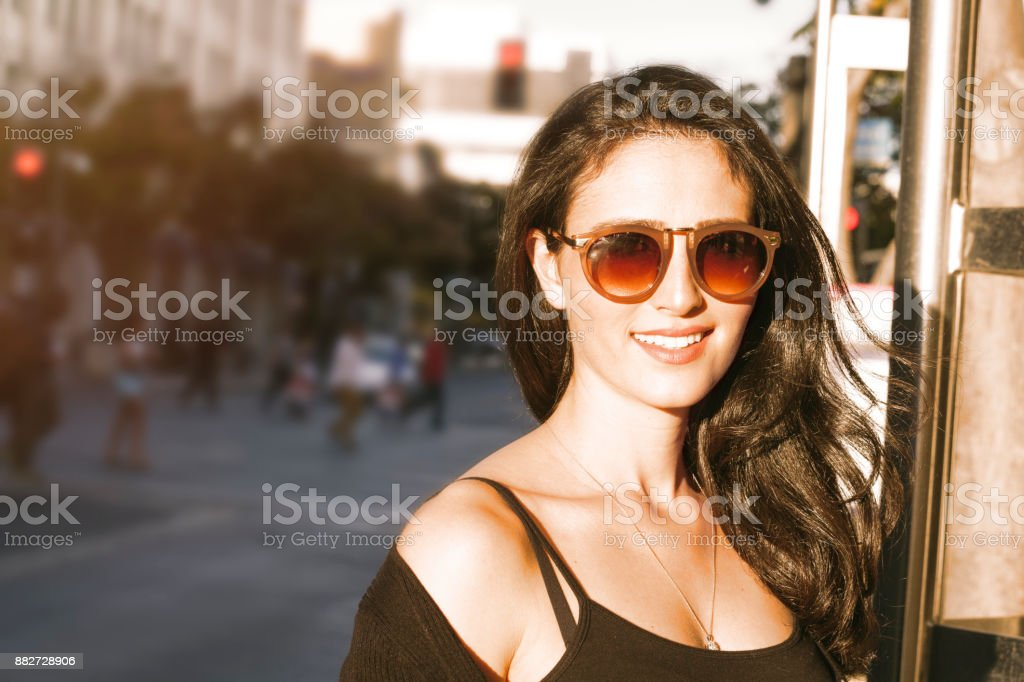 Young woman In Santa Monica stock photo