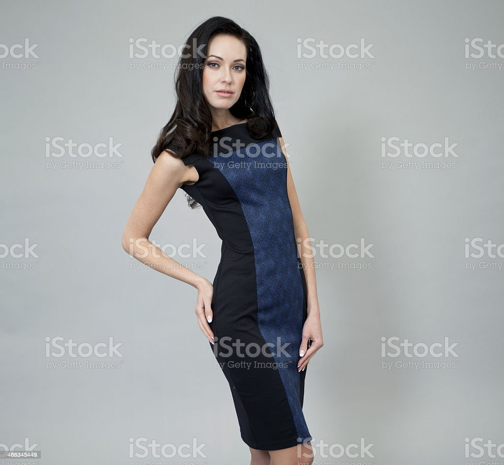 Young woman in sexy dress royalty-free stock photo