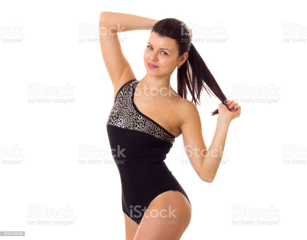 Young woman in swimming suit royalty-free stock photo