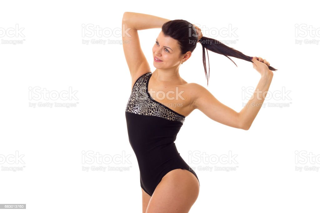 Young woman in swimming suit foto de stock royalty-free