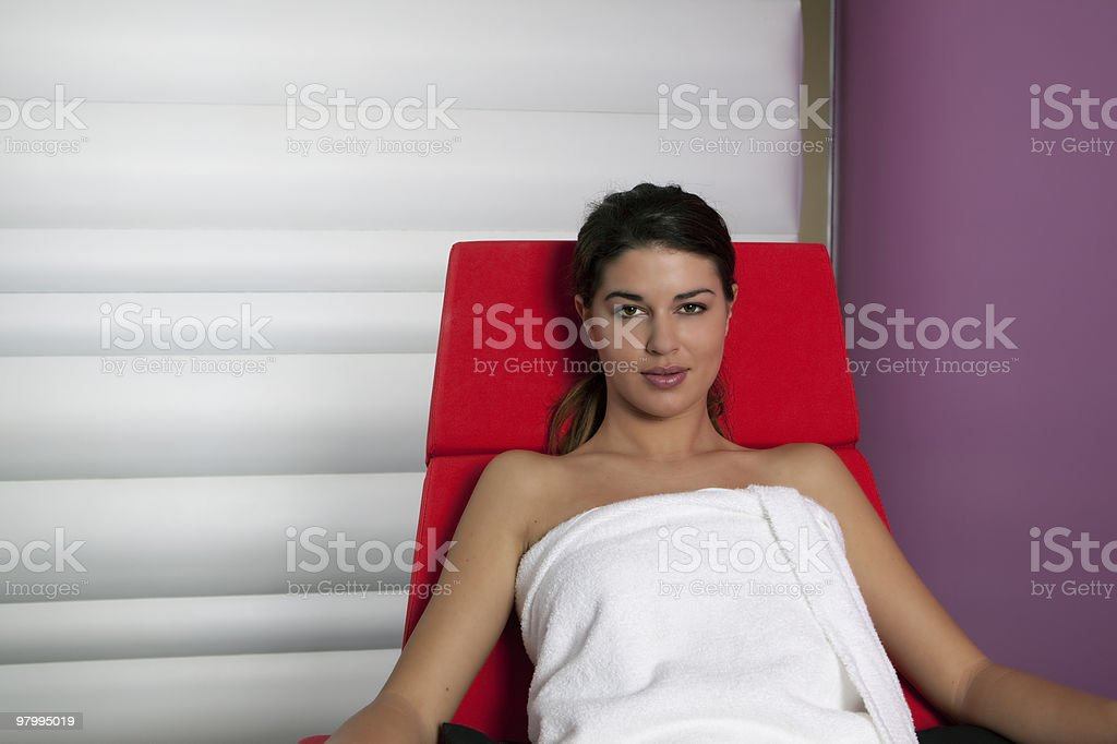 Young Woman in the Spa royalty-free stock photo