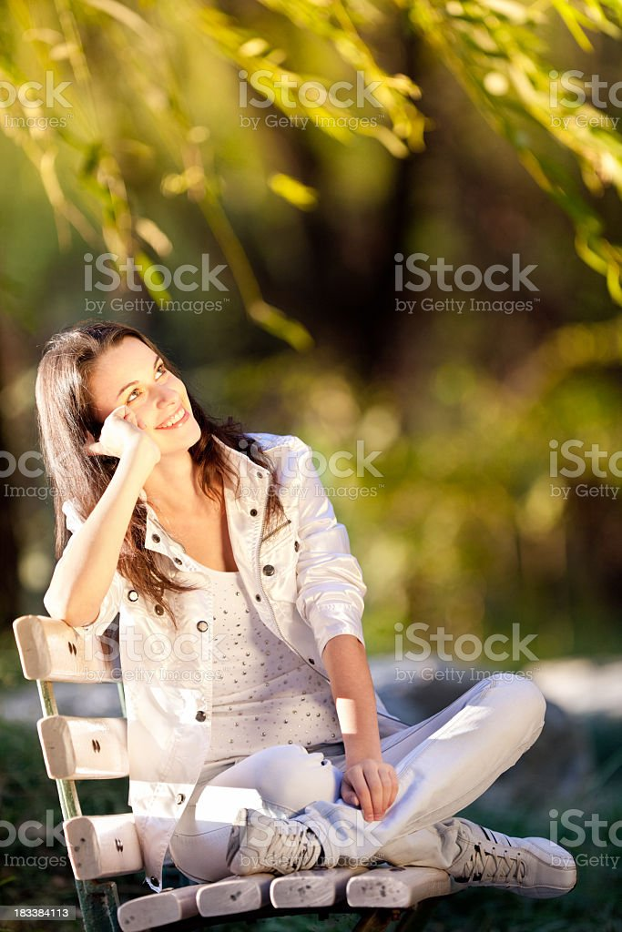 Young woman in the sun royalty-free stock photo