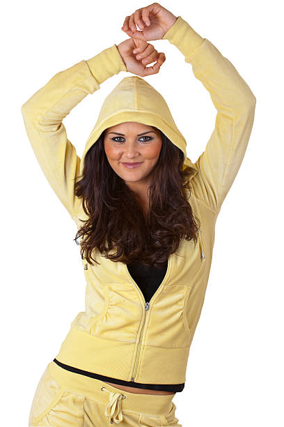Young Woman in Tracksuit stock photo