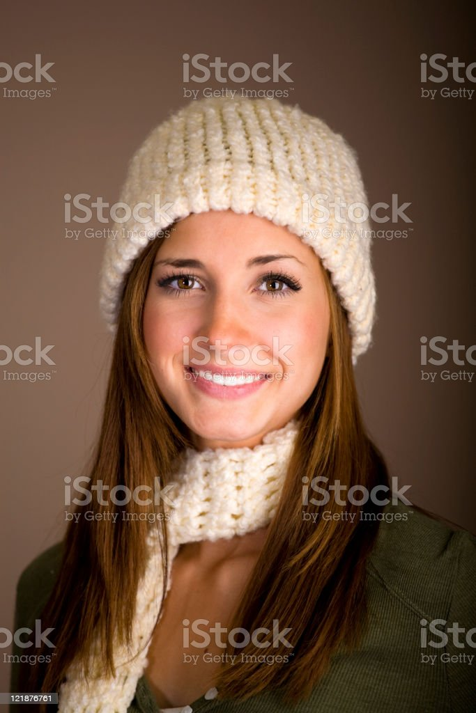 Young Woman in Winter Clothing royalty-free stock photo
