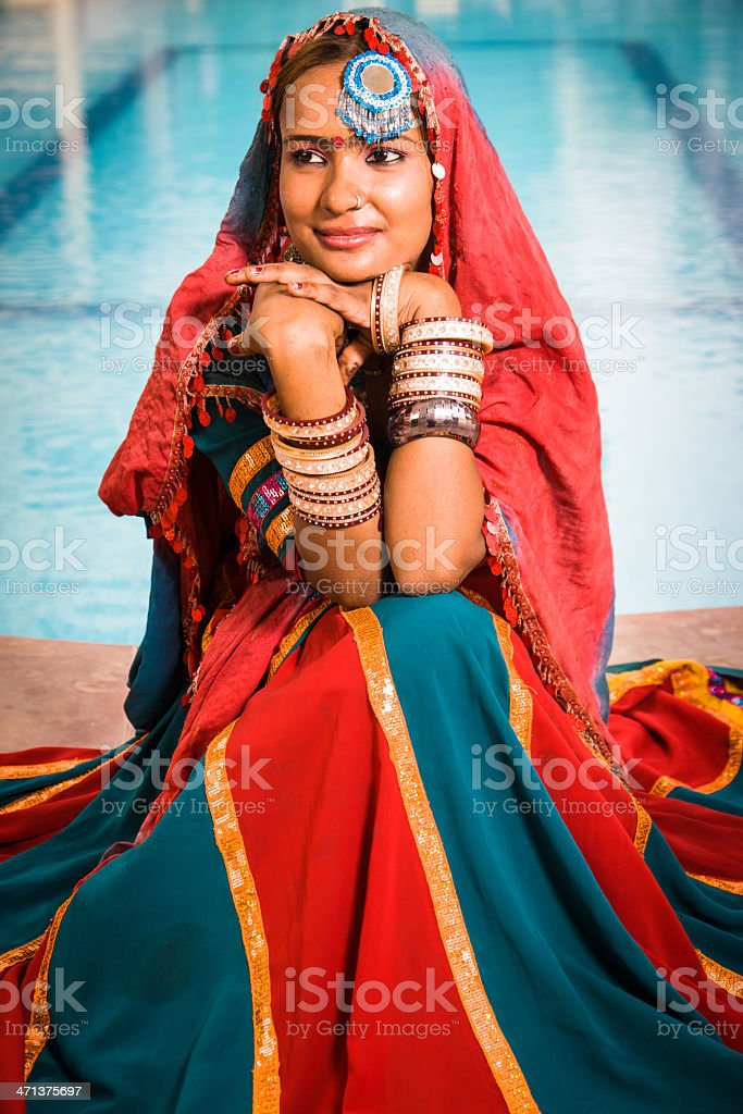 Young Woman Indian Traditional Clothing royalty-free stock photo