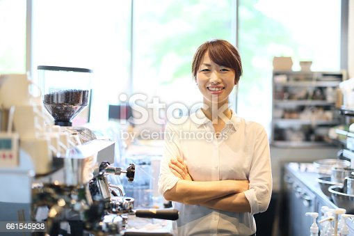 istock A young woman is an owner of the cafes. 661545938