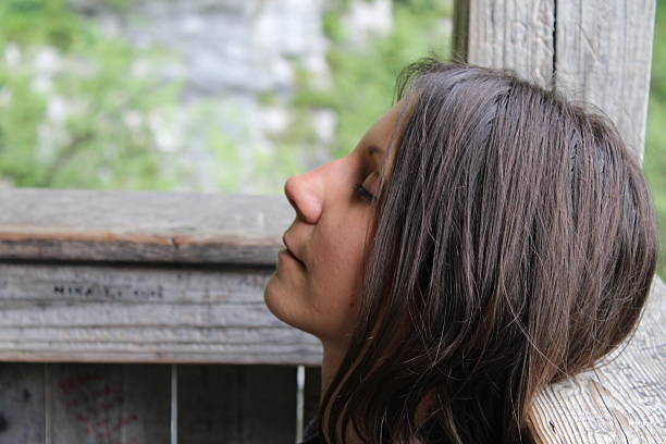 young woman is resting - stock image - jugendweihe 2016 stock-fotos und bilder