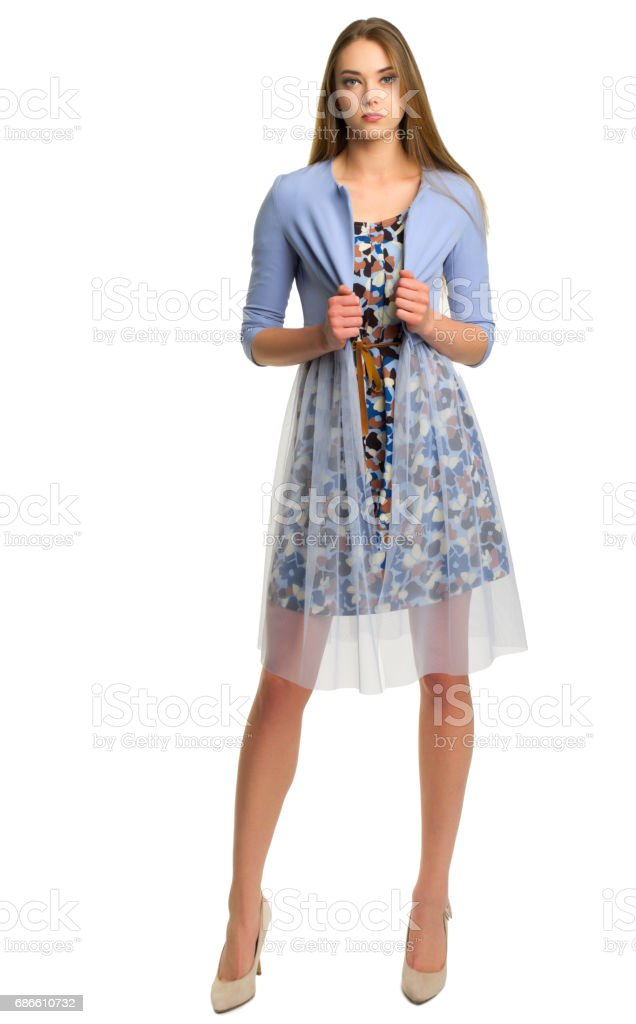 Young woman isolated royalty-free stock photo