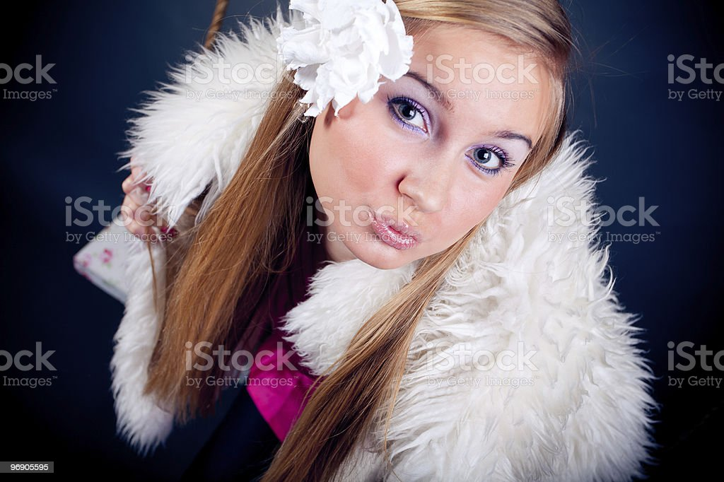 young woman kissing you royalty-free stock photo