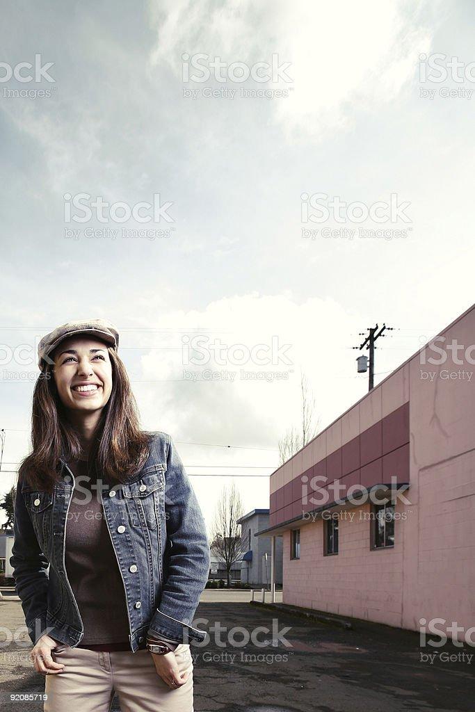 Young Woman Laughing Enjoying Life. royalty-free stock photo