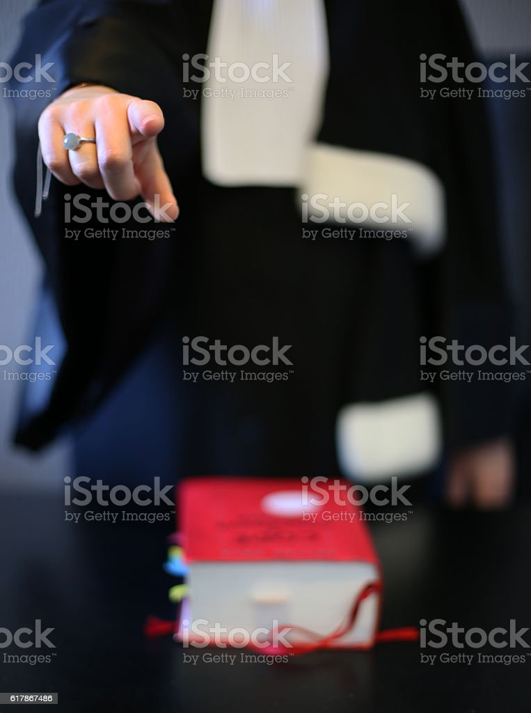 Young woman lawyer at work stock photo