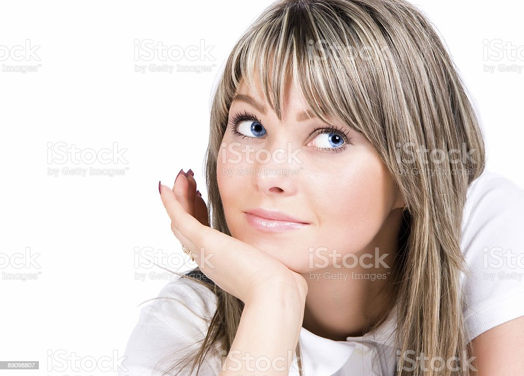 Young woman looking aside royalty-free stock photo