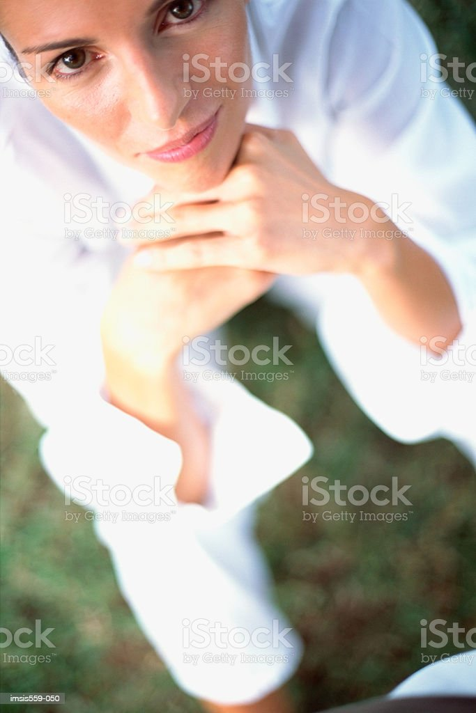 Young woman looking at camera royalty-free stock photo