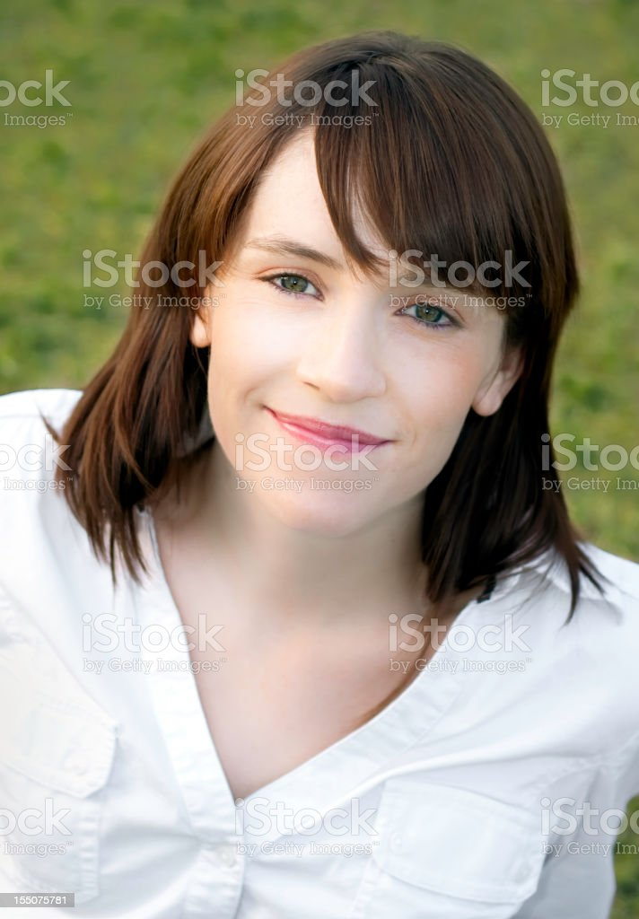 Young woman looking at the camera royalty-free stock photo