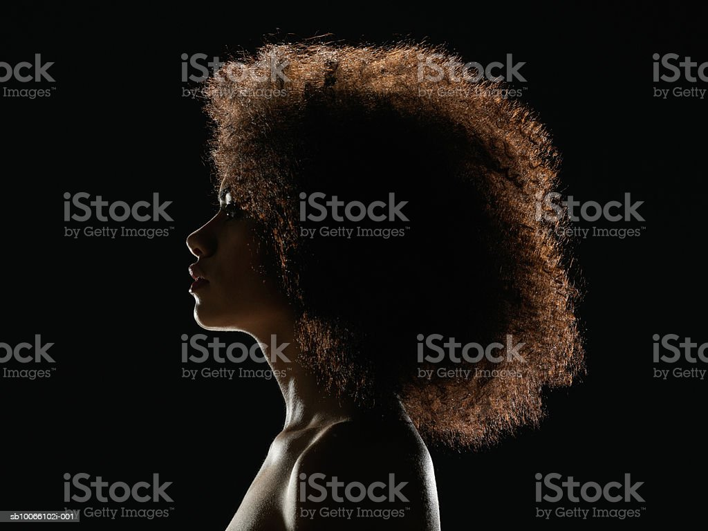 Young woman looking away, close up royalty-free stock photo