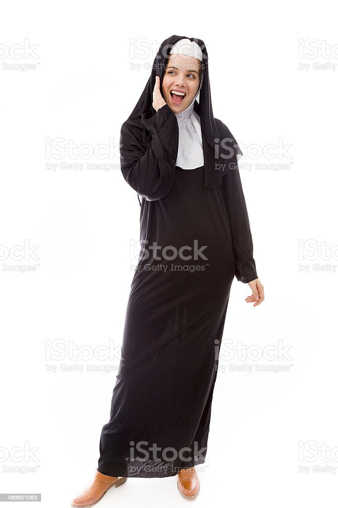 Young woman looking excited stock photo