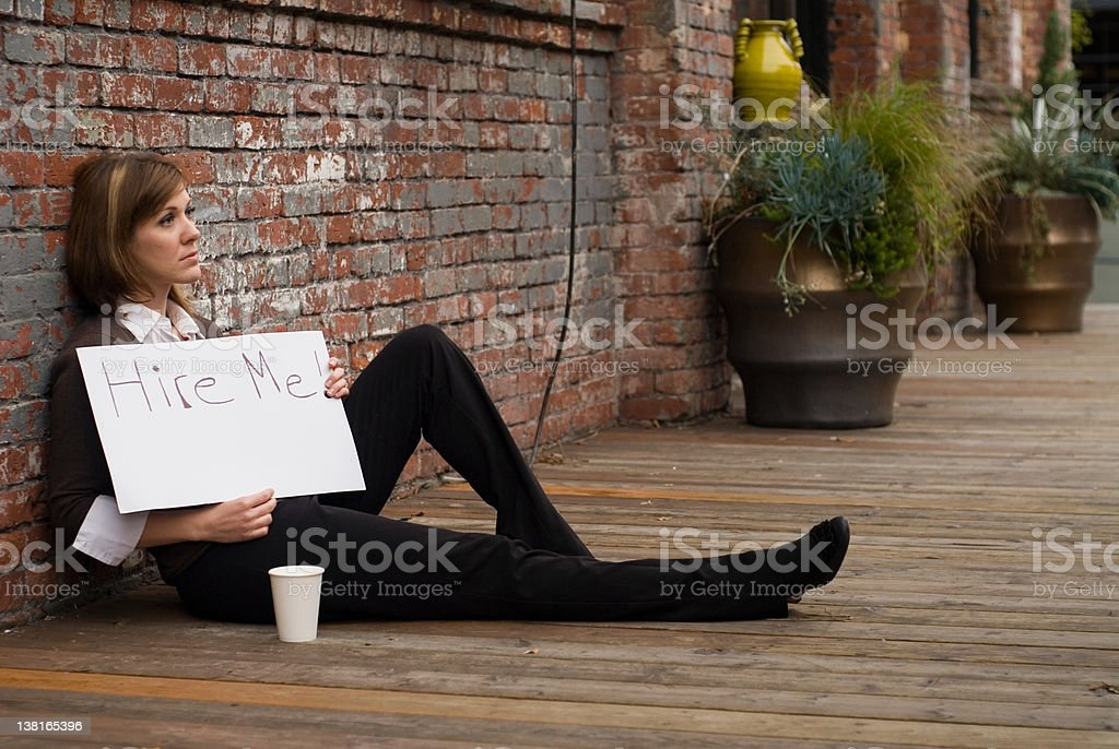 young woman looking for work royalty-free stock photo
