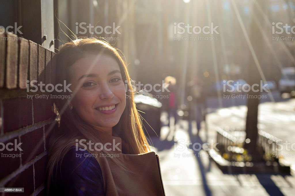 Young Woman Looking into the Camera royalty-free stock photo