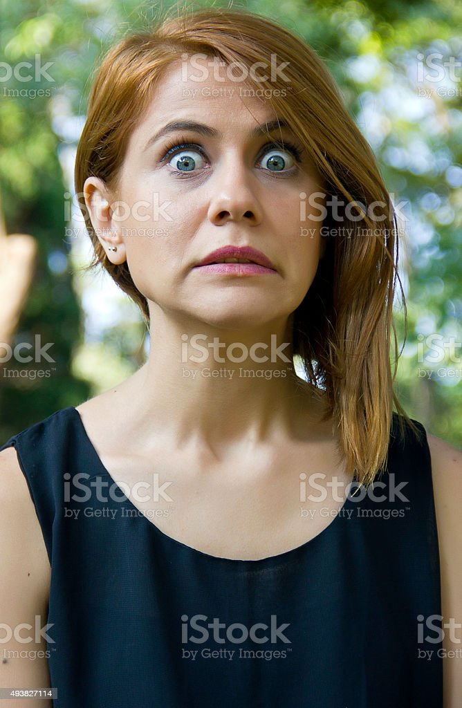 Young woman surprised stock photo. Image of lady, fear