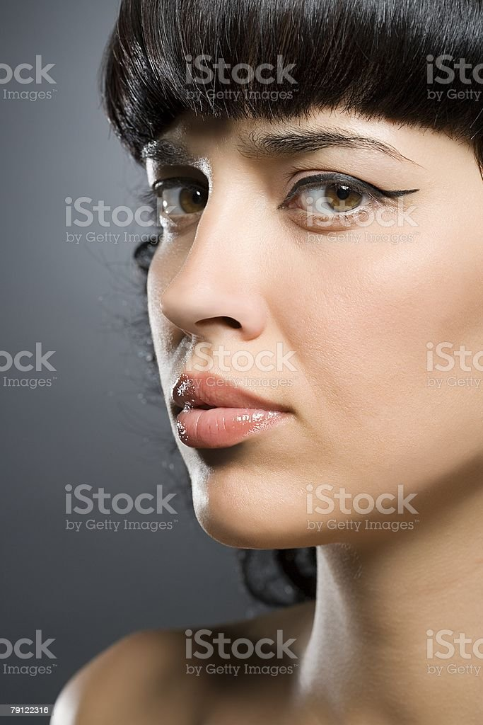 Young woman looking uncertain 免版稅 stock photo