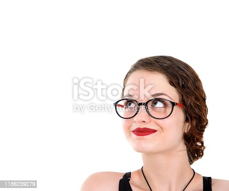 618976144istockphoto Young woman looking up 1156239279
