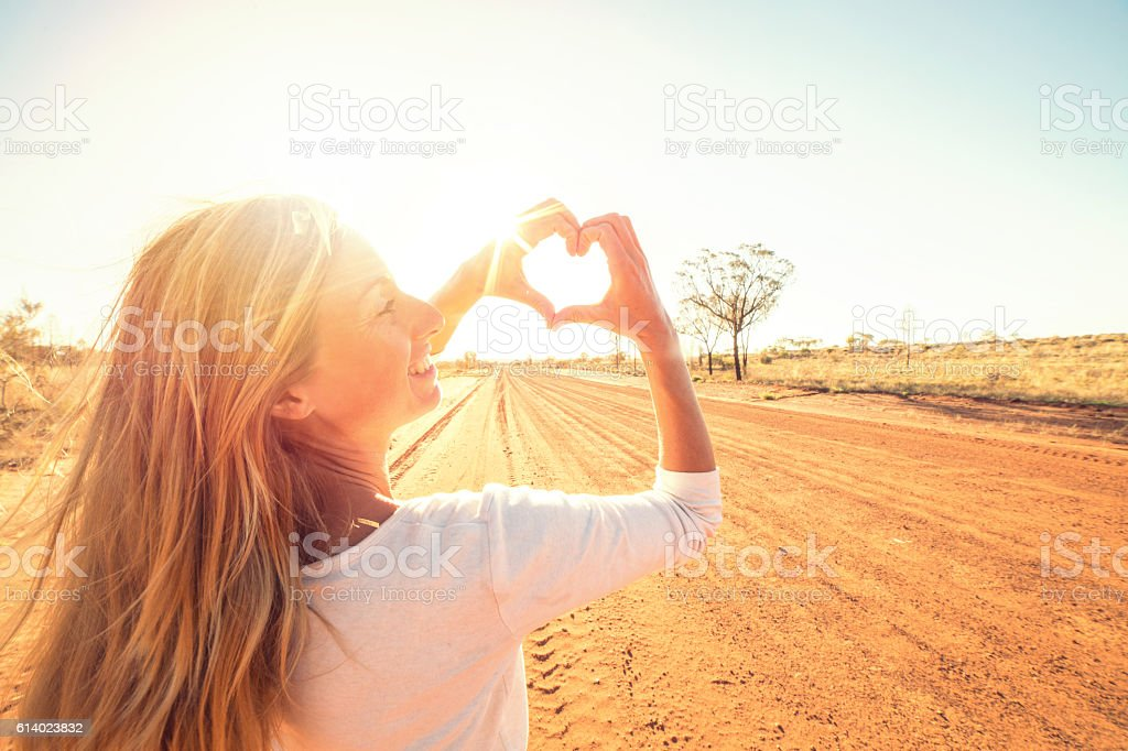 Young woman loving life stock photo