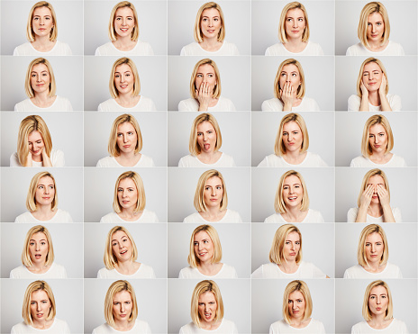 istock Young Woman Making Facial Expressions 1130597979