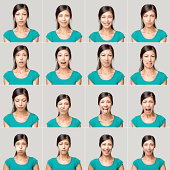 istock Young woman making facial expressions 171053474