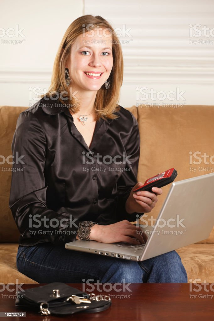 Young Woman Making Online Purchase royalty-free stock photo