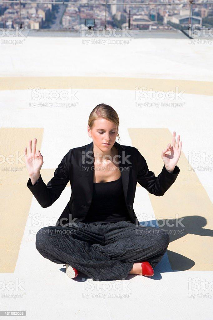 Young Woman Meditation royalty-free stock photo