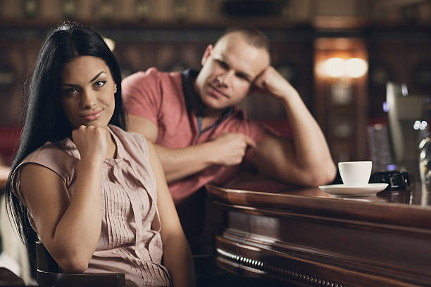 young woman on a bad date - bad date stock photos and pictures