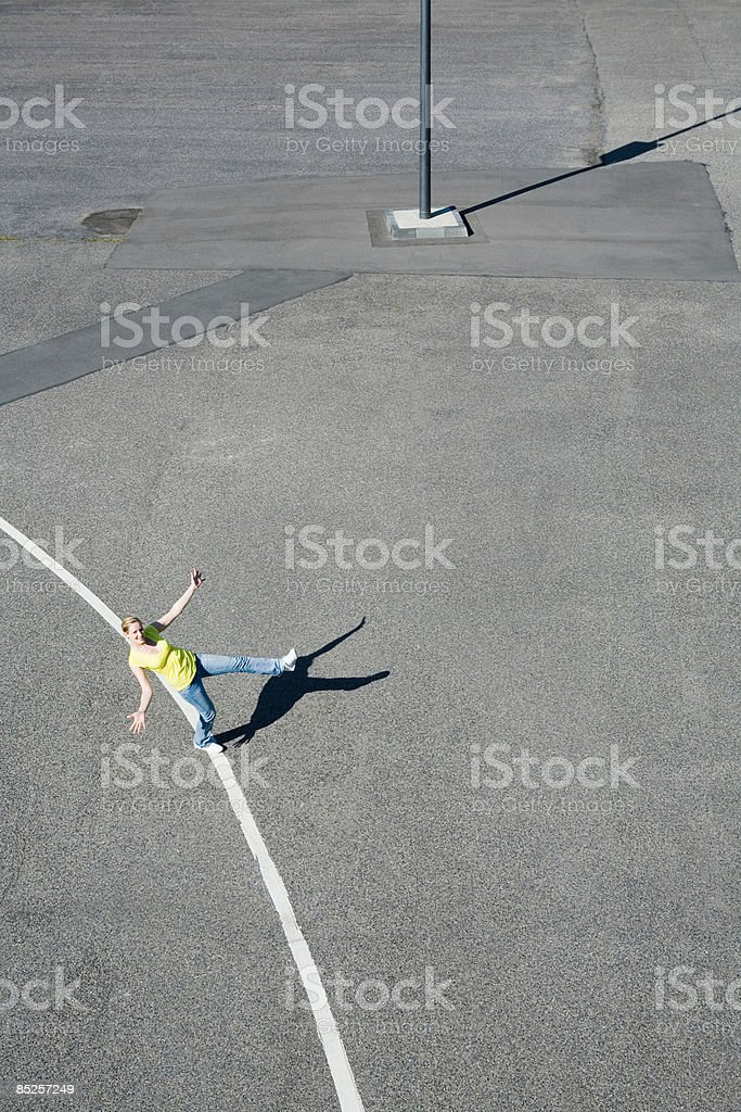 Young woman on a line royalty-free stock photo