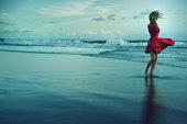 ビーチにいる女性