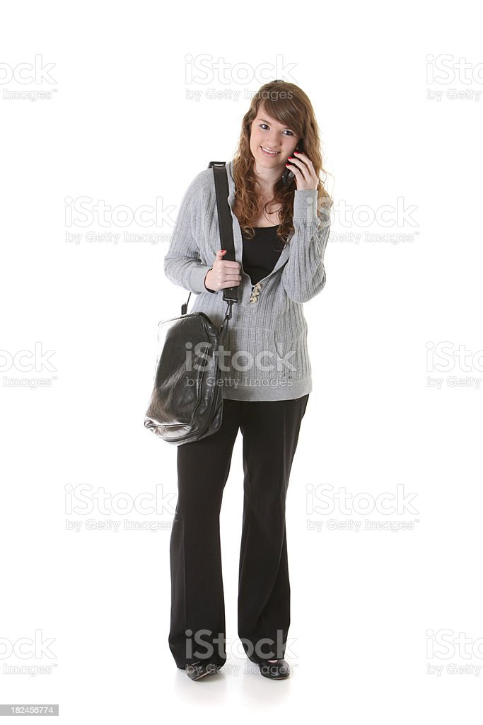 young woman on cell phone royalty-free stock photo