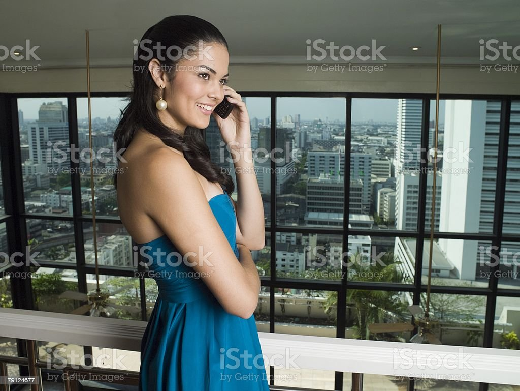 Young woman on cellphone royalty-free stock photo