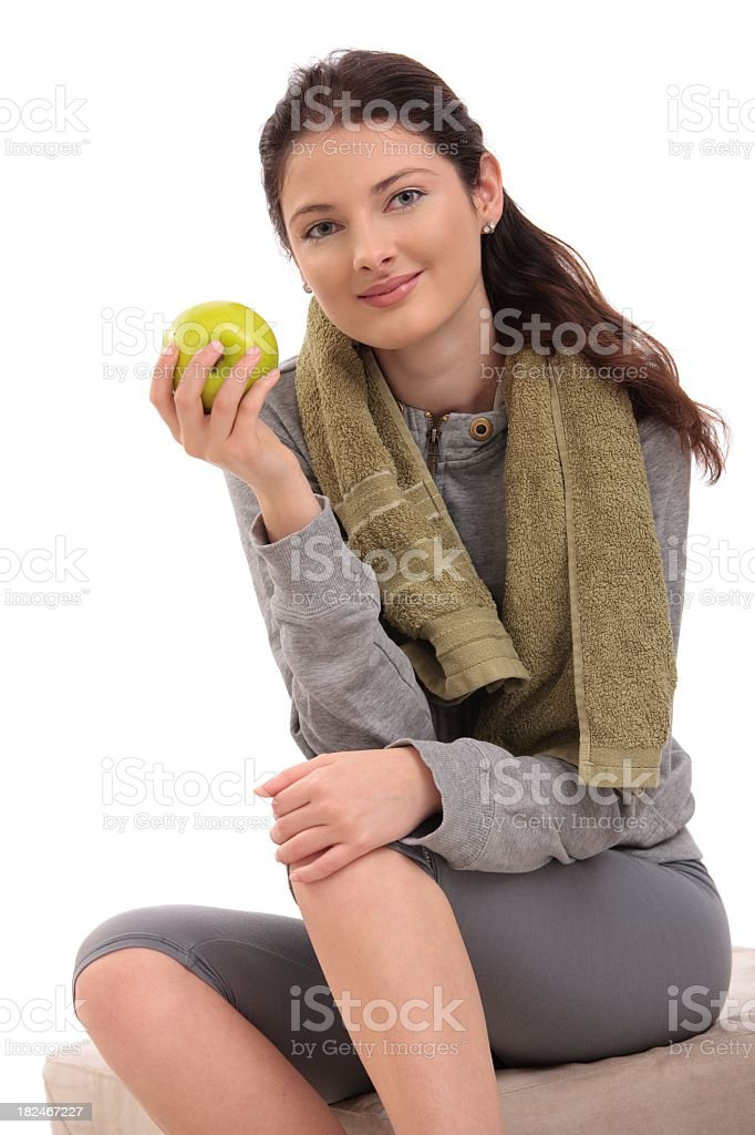 Young woman on diet royalty-free stock photo
