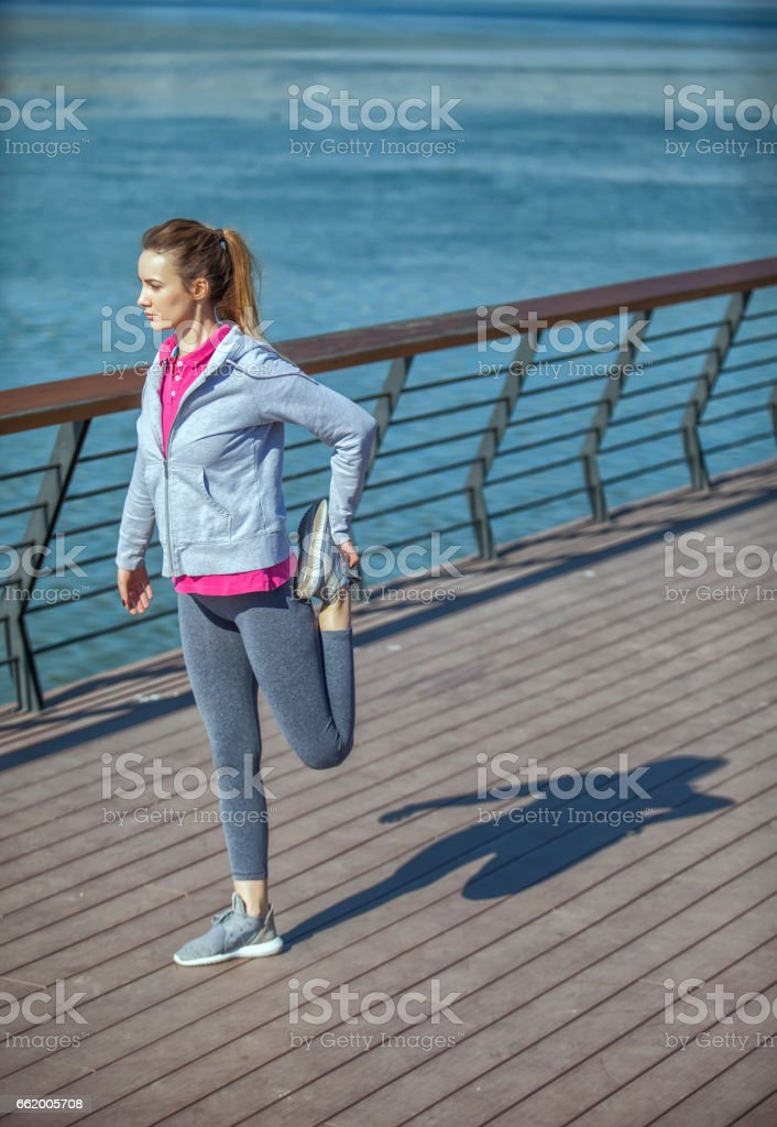 Young woman on recreation and jogging royalty-free stock photo