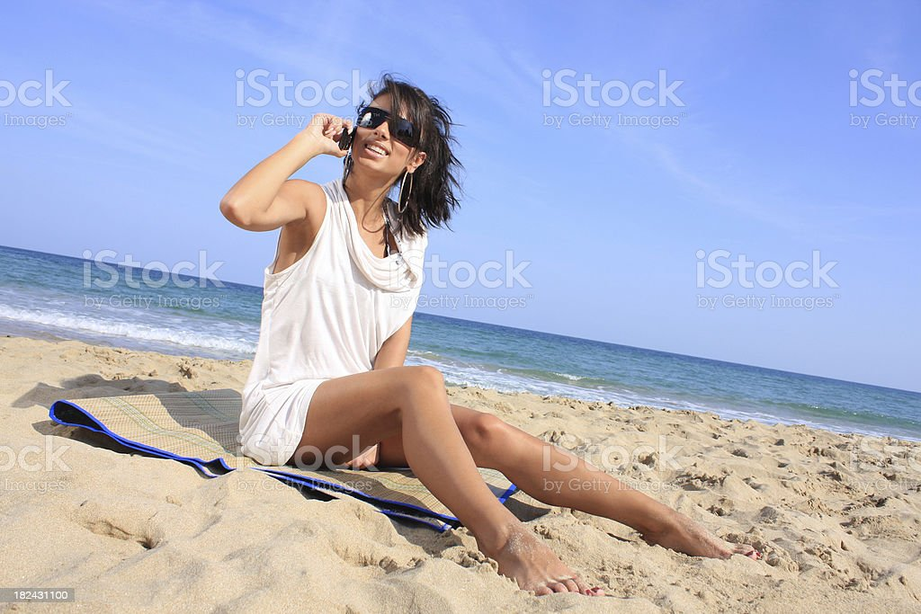 Young Woman on the beach royalty-free stock photo