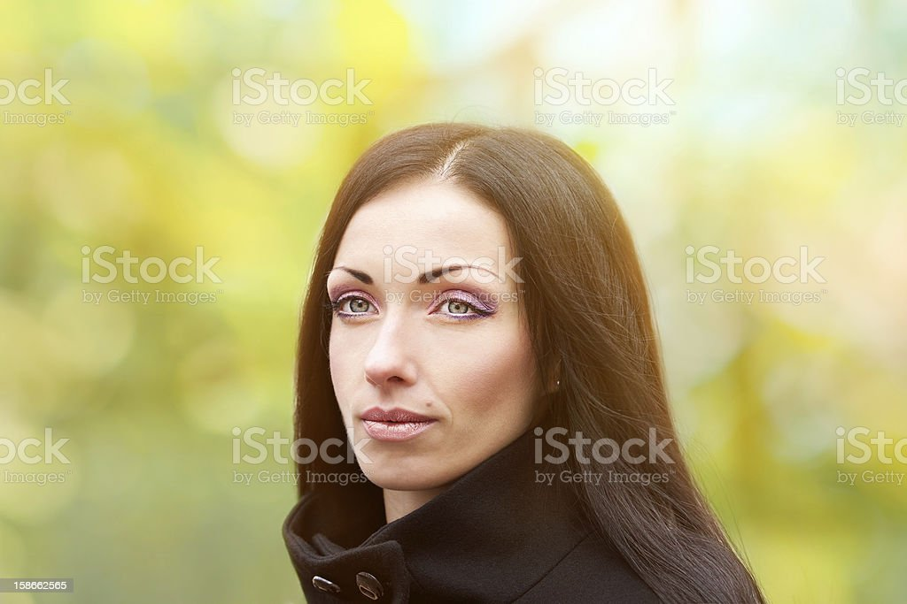 young woman on the spring background royalty-free stock photo