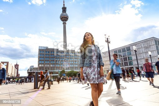 istock Young woman on travel in Berlin - Germany during summer holidays 994869728