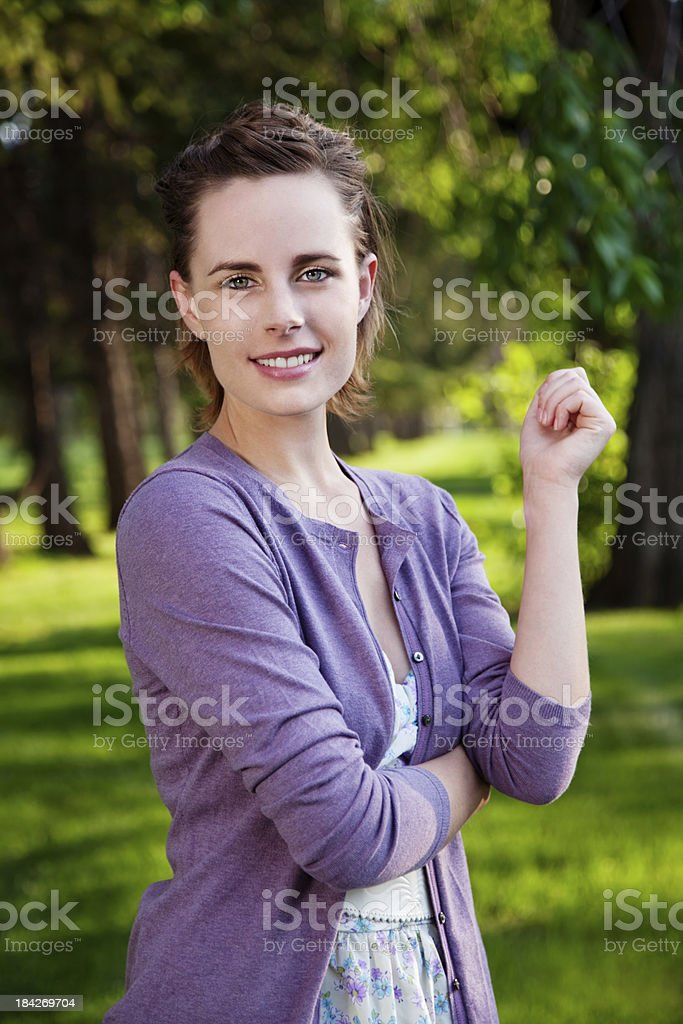Young Woman Outdoor Series royalty-free stock photo