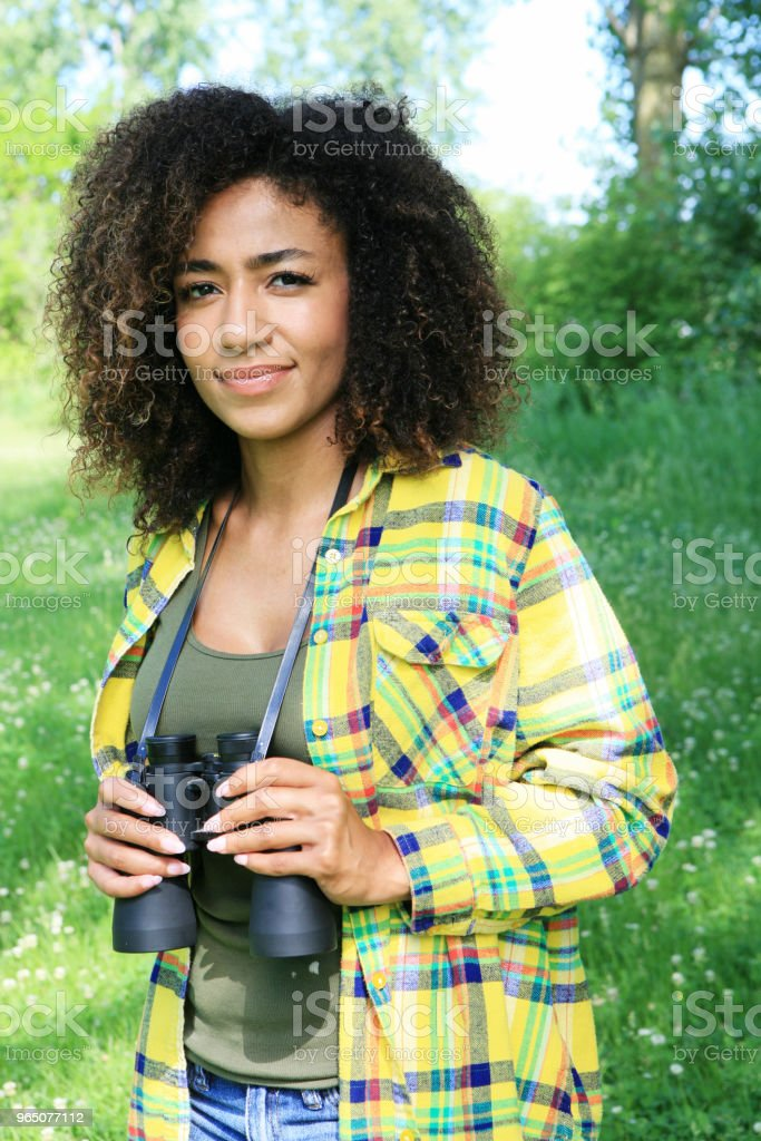 Young woman outdoors in nature royalty-free stock photo