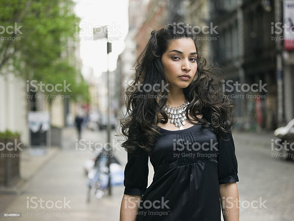 Young woman outdoors 免版稅 stock photo